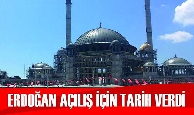 Cumhurbaşkanı Erdoğan Taksim Camii ve AKM açılışı için tarih verdi