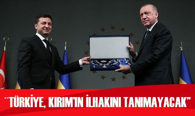 Cumhurbaşkanı Erdoğan: Türkiye Kırım'ın yasa dışı ilhakını tanımayacaktır