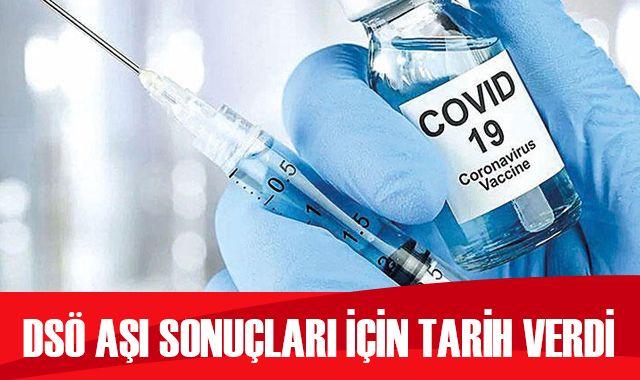 DSÖ, Kovid-19 aşısı için tarih verdi
