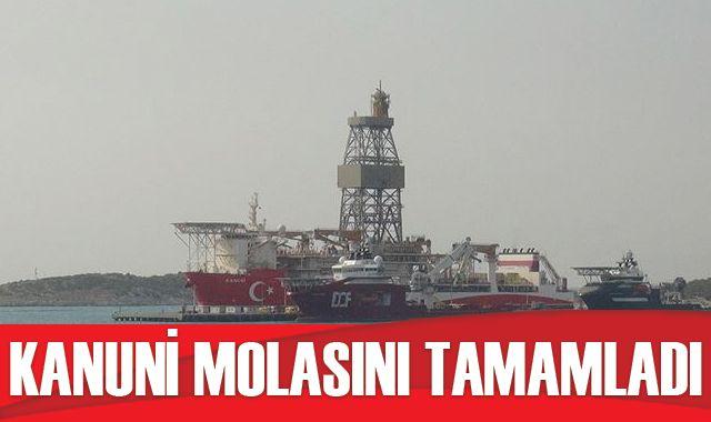 Kanuni sondaj gemisinin Mersin'deki 'molası' tamamlandı