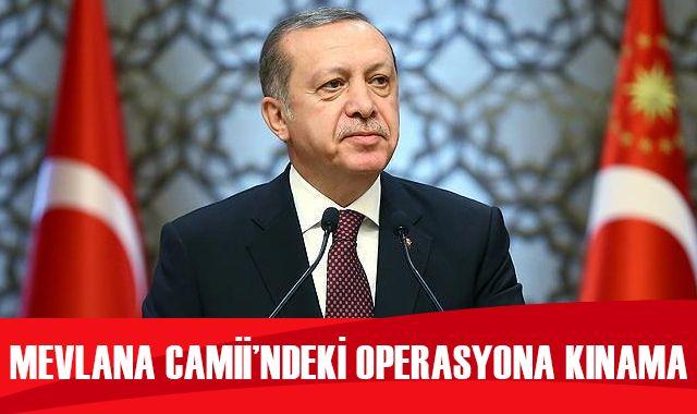 Mevlana Camii'ndeki operasyona kınama