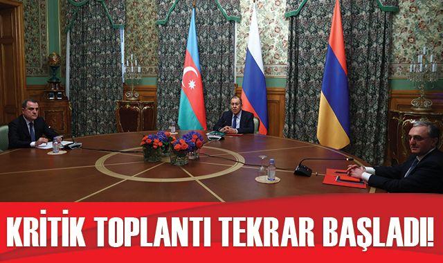 Moskova'daki kritik Ermenistan-Azerbaycan toplantısı yeniden başladı