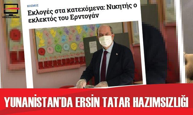 Yunanistan'da Ersin Tatar hazımsızlığı