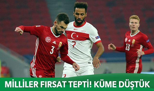 A Milli Takım Macaristan'a 2-0 yenildi