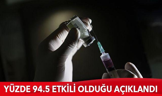 ABD'li ilaç şirketi Moderna, koronavirüs aşısının yüzde 94.5 etkili olduğu açıklandı