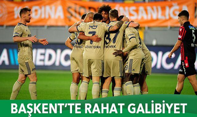 Başkent'te Fenerbahçe rahat kazandı