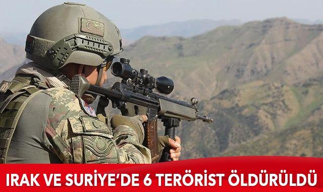 Irak'ın kuzeyinde ve Barış Pınarı bölgesinde 6 teröristin öldürüldü