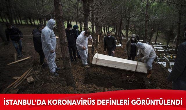 İstanbul'da koronavirüs definleri görüntülendi