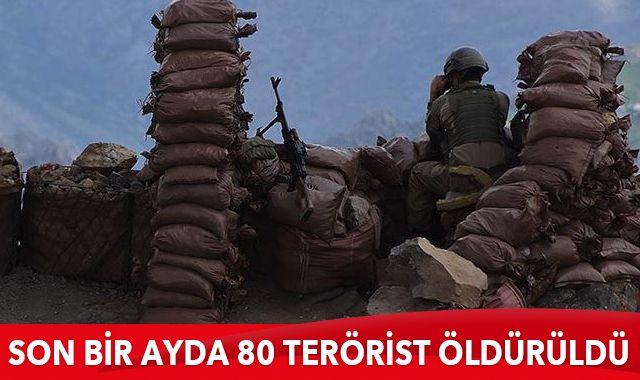 MSB: Son bir ayda 80 terörist öldürüldü