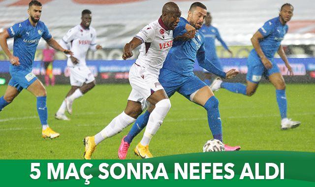 Trabzonspor evinde 3 puanı aldı