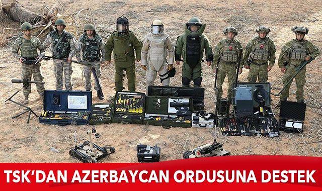 TSK'dan Azerbaycan ordusuna mayın temizleme desteği