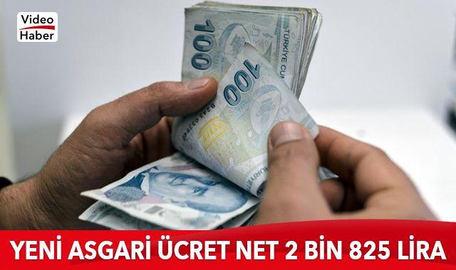 2021 Asgari ücret 2 bin 825 lira 90 kuruş oldu