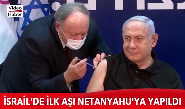 İsrail'de ilk aşı canlı yayında Netanyahu'ya yapıldı