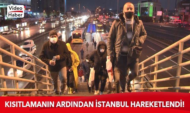 Kısıtlamanın ardından İstanbul trafiğinde hareketlilik başladı