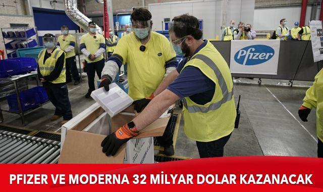 Pfizer ve Moderna'nın 32 milyar dolar kazanması bekleniyor