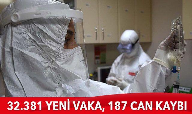 Türkiye'de koronavirüste son durum : 32.381 yeni vaka, 187 can kaybı