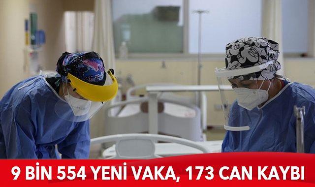 13 Ocak 2021 koronavirüs tablosu: 9 bin 554 yeni vaka, 173 can kaybı