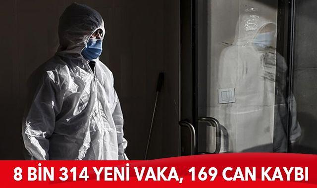 15 Ocak 2021 koronavirüs tablosu: 8 bin 314 yeni vaka, 169 can kaybı