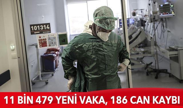 8 Ocak 2021 koronavirüs tablosu: 11 bin 479 yeni vaka, 186 can kaybı