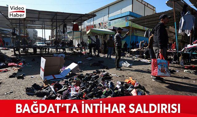 Bağdat'taki saldırı anı kamerada