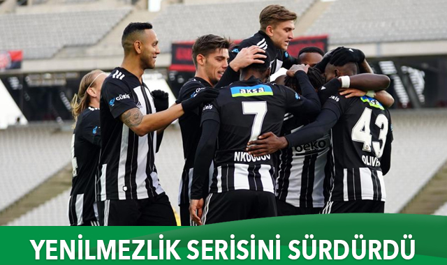 Beşiktaş yenilmezlik serisini sürdürdü