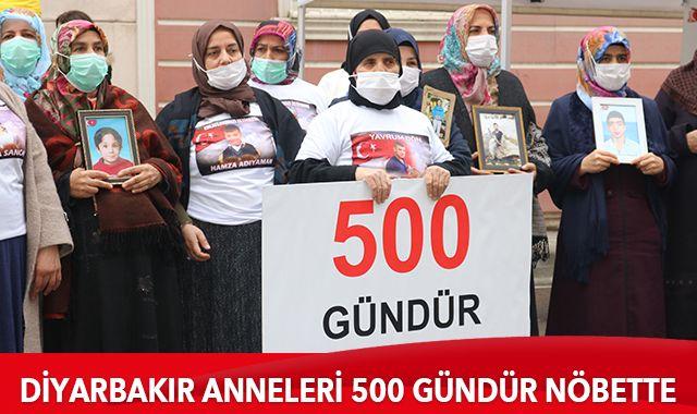 Diyarbakır anneleri 500 gündür evlatları için nöbete devam ediyor