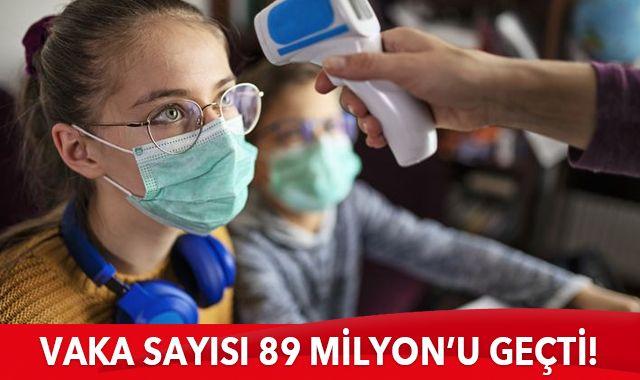 Dünya genelinde Covid-19 tespit edilen kişi sayısı 89 milyon 361 bini geçti