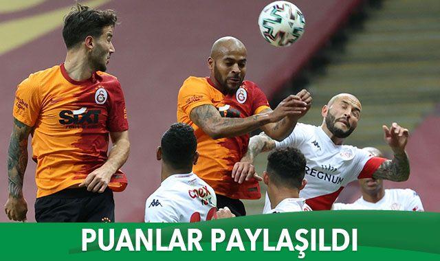 Galatasaray sahasında Antalyaspor ile 0-0 berabere kaldı