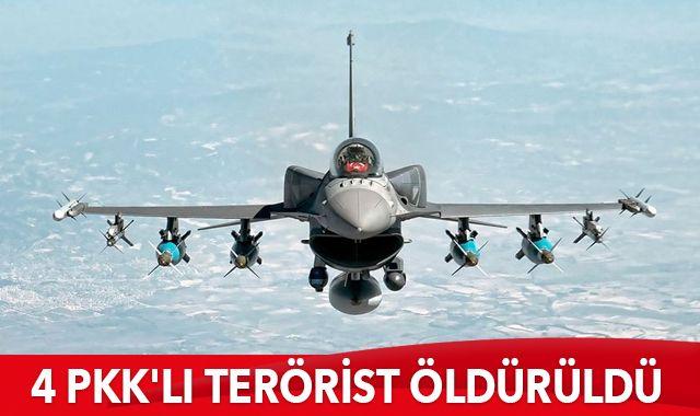 Irak'ın kuzeyine hava harekatı! 4 PKK'lı terörist öldürüldü