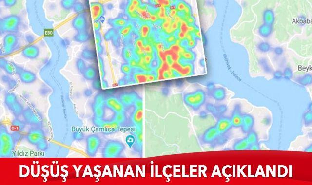 İstanbul'da koronavirüs vaka sayılarında en çok ve en az düşüş yaşanan ilçeler açıklandı