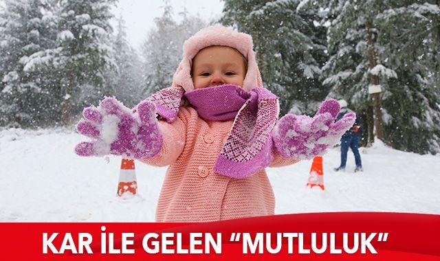 """Kar ile gelen """"mutluluk"""""""