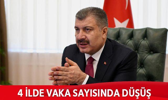 Koca: İstanbul, İzmir, Ankara ve Bursa'da vaka sayısında düşüş oldu