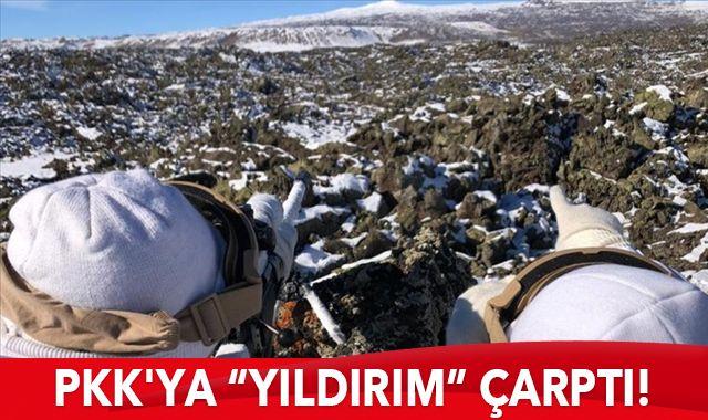 """PKK'ya """"YILDIRIM"""" çarptı! 3 terörist öldürüldü"""