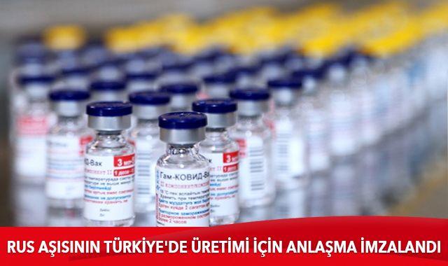 Rus aşısı Sputnik V'nin Türkiye'de üretimi için anlaşma imzalandı