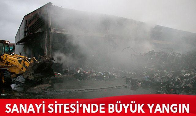 Samsun'da çıkan yangında 4 iş yeri ve 2 otomobil yandı
