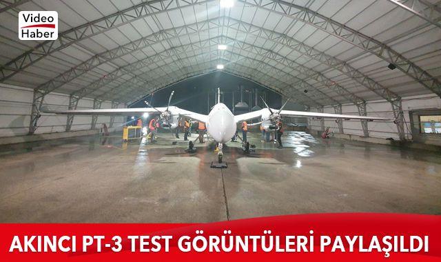 Selçuk Bayraktar, AKINCI PT-3 testinden video paylaştı