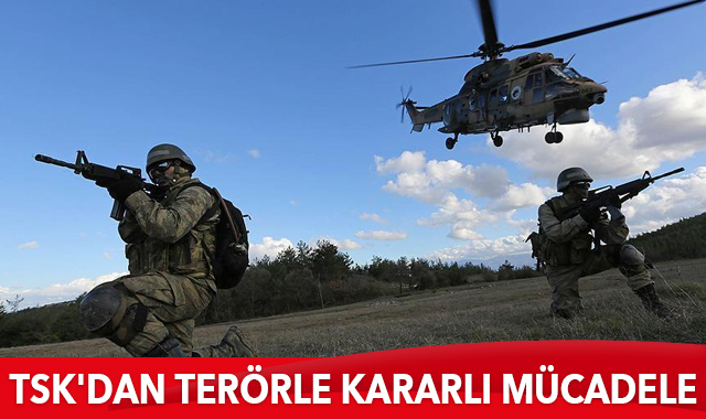 TSK'dan terörle kararlı mücadele