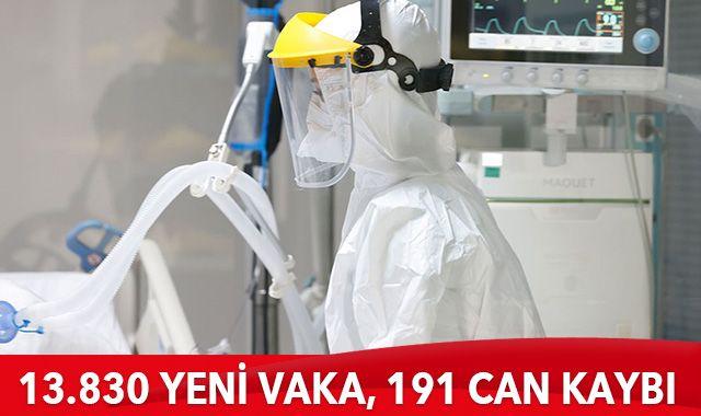 6 Ocak 2021 koronavirüs tablosu: 13 bin 830 yeni vaka, 191 can kaybı
