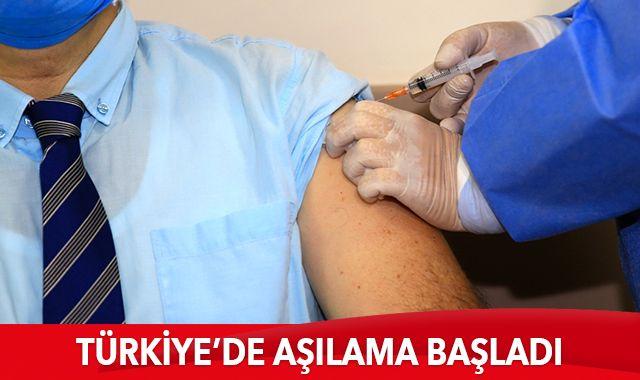 Türkiye genelinde aşılama süreci başladı