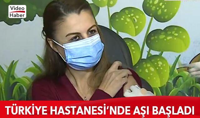 Türkiye Hastanesi'nde aşı başladı