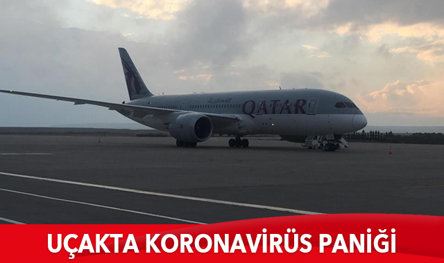 Uçakta koronavirüs paniği