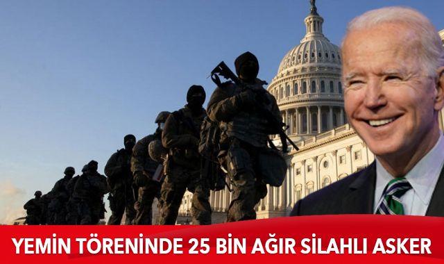 Yemin töreninde 25 bin ağır silahlı asker