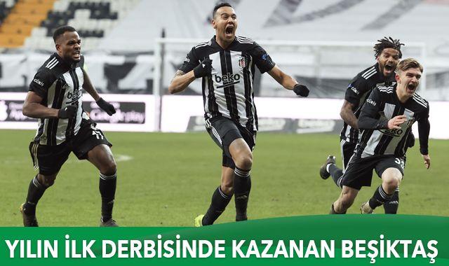 Yılın ilk derbisinde kazanan Beşiktaş