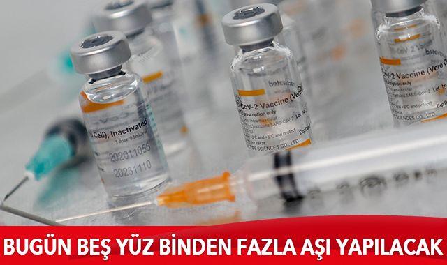 Bakan Koca: Bugün 500.000'den fazla aşı yapıyoruz