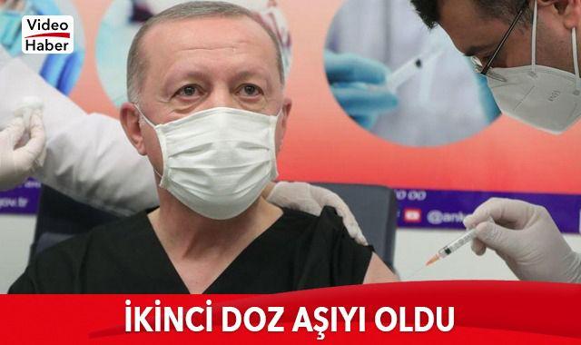 Cumhurbaşkanı Erdoğan: Ben de ikinci doz Kovid-19 aşısını yaptırdım