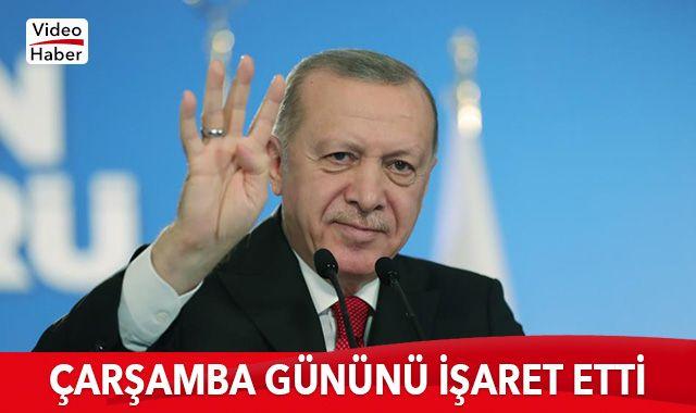 Cumhurbaşkanı Erdoğan çarşamba gününü işaret etti: Özellikle izlemenizi istiyorum