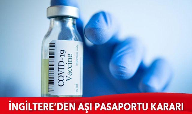 İngiltere'den aşı pasaportu kararı