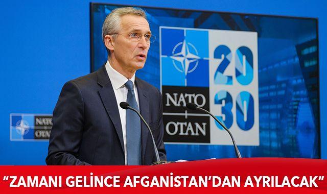 NATO Genel Sekreteri: NATO zamanı gelince Afganistan'dan ayrılacak