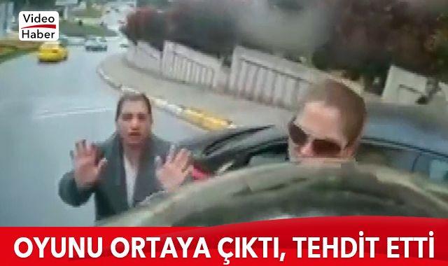 Oyunu ortaya çıkan dolandırıcı kadından vatandaşa tehdit