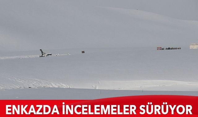 Düşen helikopterin enkazında incelemeler sürüyor